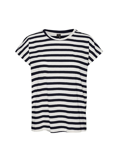 Fabrika Copenhagen Fabrika x Copenhagen Çizgili Mavi T-Shirt Lacivert